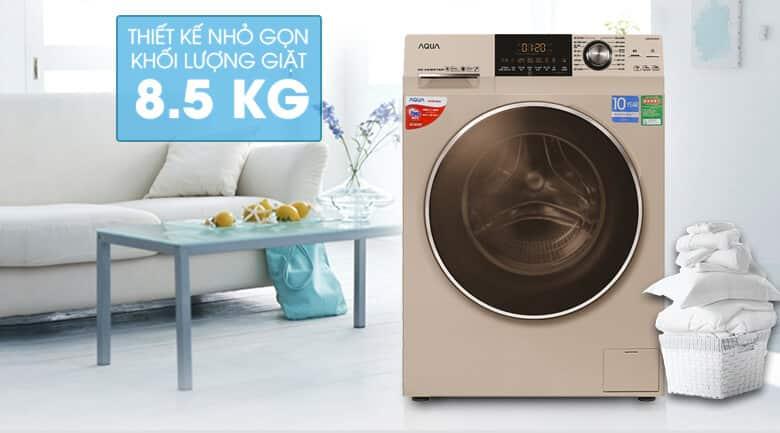 máy giặt hãng aqua có tốt không? cùng mgg đánh giá Máy Giặt Cửa Trước Inverter Aqua AQD-DD850A-N