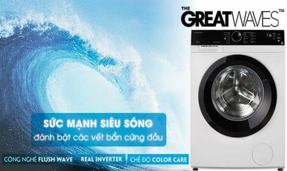 Máy giặt hãng toshiba nào tốt, hãy cùng xem máy giặt toshiba tốt nhất hiện nay Máy giặt lồng ngang Toshiba Inverter 8.5 kg TW-BH95M4V
