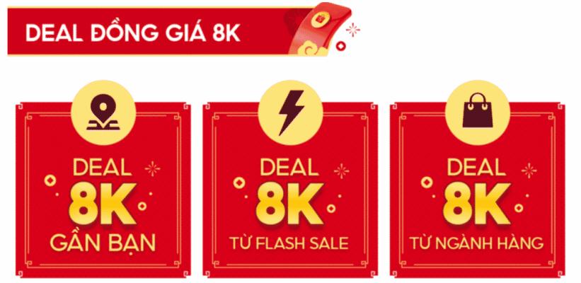 Shopee Sale Tết 2021 - Deal đồng giá 8K
