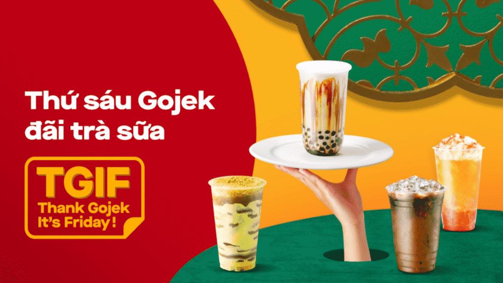 Thứ sáu Gojek đãi trà sữa 0Đ