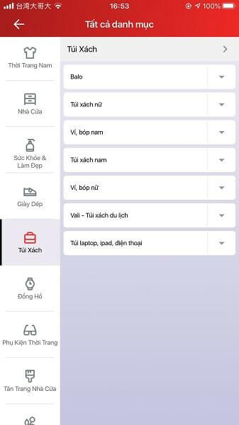 mua hàng App Sendo