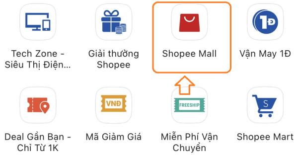 cách tìm kiếm sản phẩm trong Shopee Mall