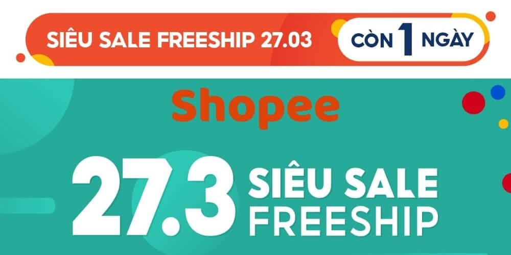 Shopee sale 27.3
