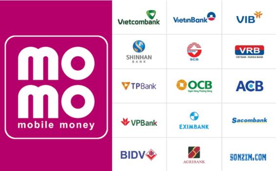 Các ngân hàng có thể liên kết với ví MoMo