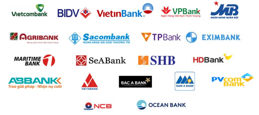 Các ngân hàng hỗ trợ liên kết