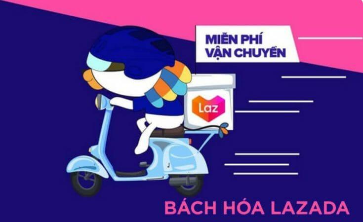 Bách hóa Lazada miễn phí vận chuyển