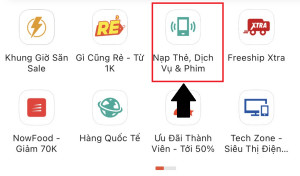 cách mua thẻ điện thoại trên shopee