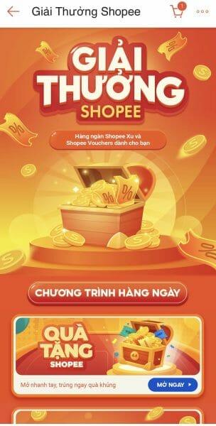 Shopee game bị mất