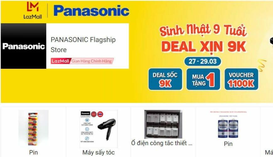 Panasonic thương hiệu điện gia dụng được yêu thích Lazada