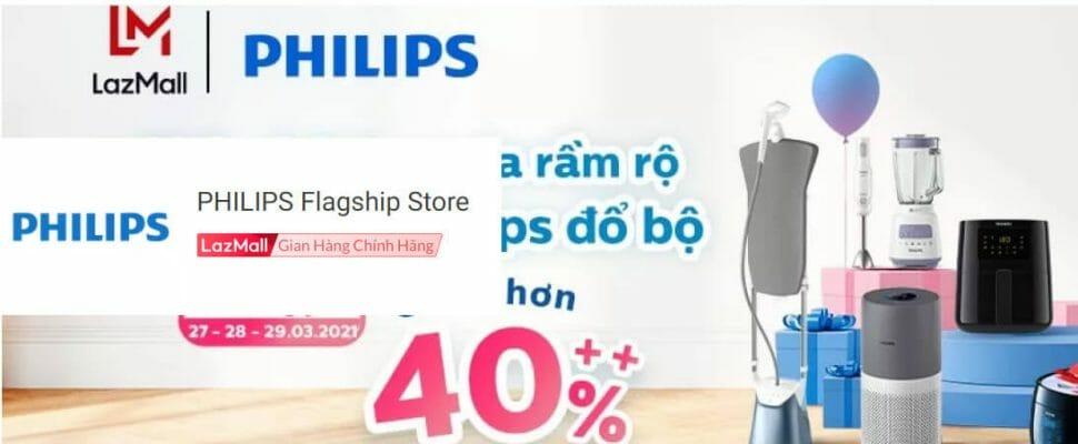 Gian hàng Philips chính hãng tại Lazada