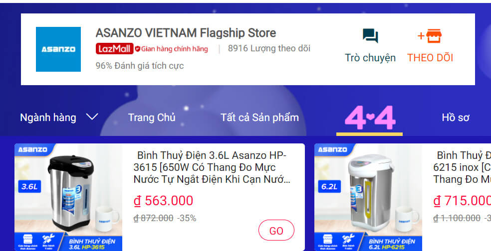 Thương hiệu Asanzo top 10 hãng điện tử công nghệ được yêu thích nhất Lazada