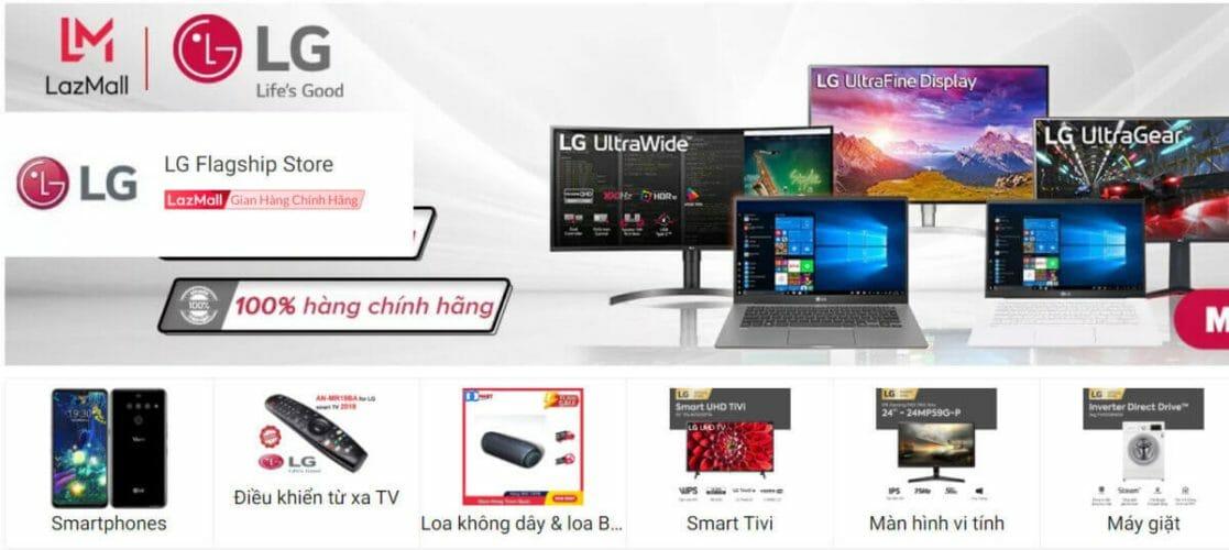 LG thương hiệu điện gia dụng được yêu thích Lazada
