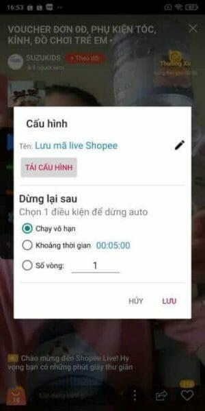 Cách săn mã livestream Shopee