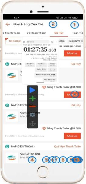 Bật ứng dụng thời gian để canh chuẩn xác Auto Click