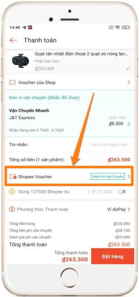 Dùng Auto click săn mã live stream Shopee