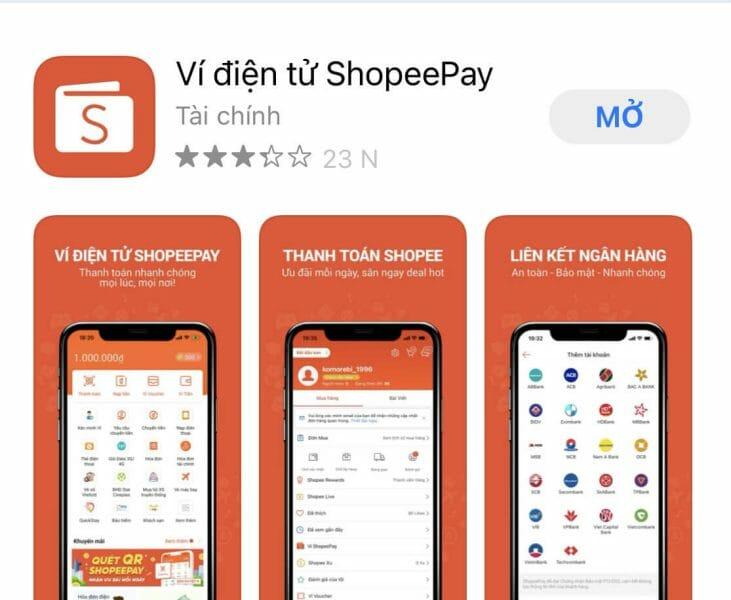 Tải ví Shopee Pay từ Ch Play hoặc App Store