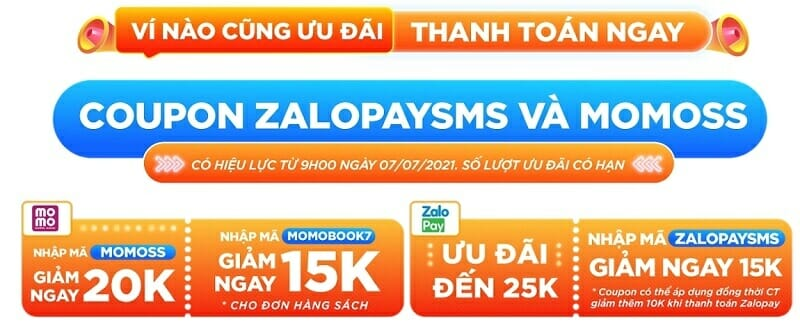 ưu đãi đối tác ngân hàng Tiki 7.7