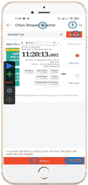 Cách dùng Auto Click săn mã giảm giá Shopee
